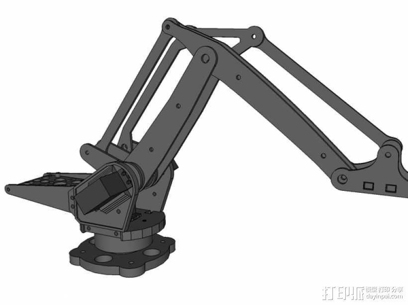 机械臂架 3D模型  图4