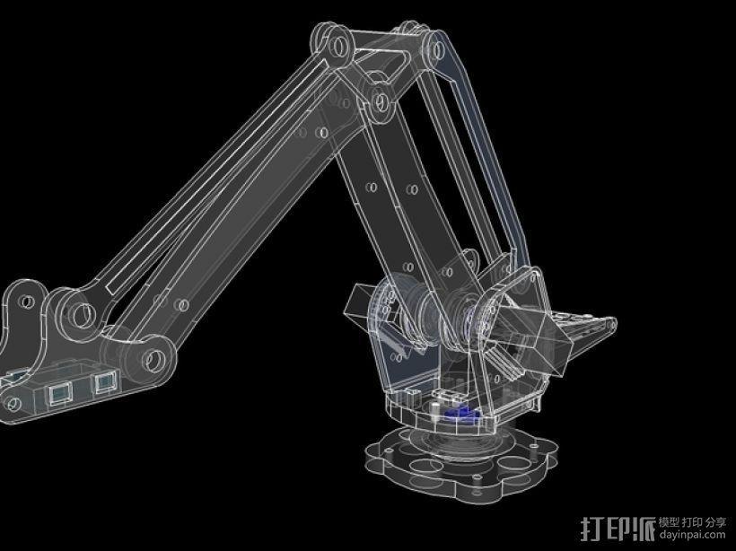 机械臂架 3D模型  图7