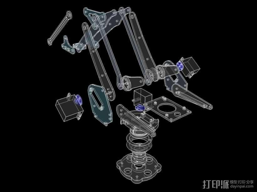 机械臂架 3D模型  图9