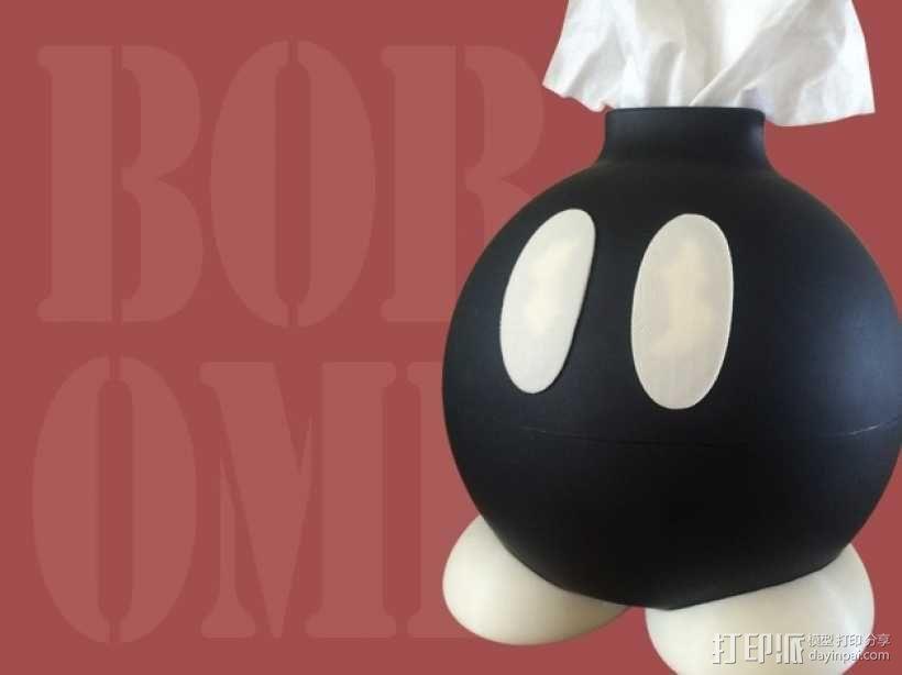 Bob-omb纸巾收纳盒 3D模型  图1