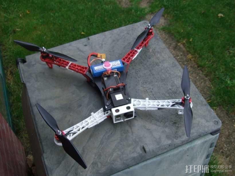 Spyda 500四轴飞行器 3D模型  图2