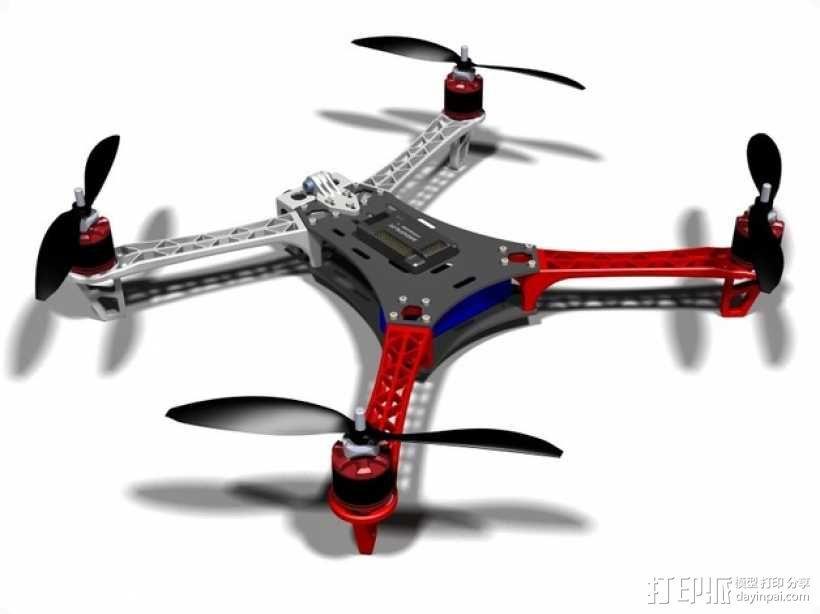 Spyda 500四轴飞行器 3D模型  图8