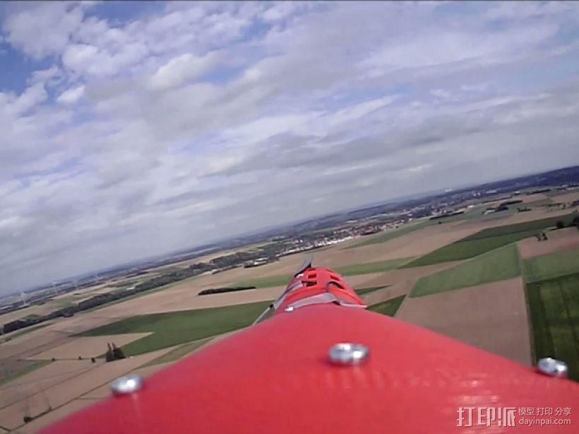 """""""红色的天鹅""""——最大的全打印滑翔机 3D模型  图3"""