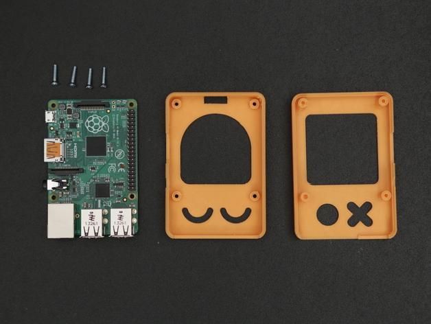 Raspberry Pi B+ 脸型外壳 3D模型  图3