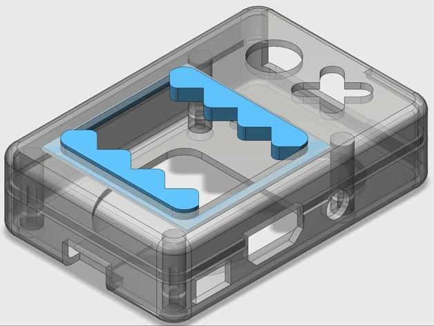 Raspberry Pi B+ 脸型外壳 3D模型  图7