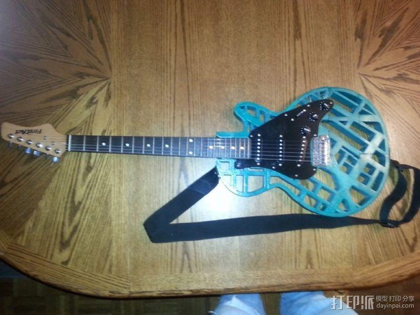 两种风格混合吉他 3D模型  图1