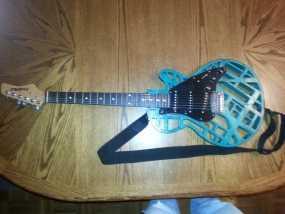 两种风格混合吉他 3D模型