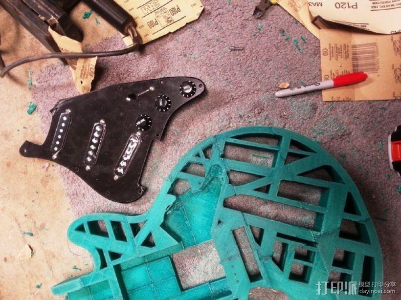 两种风格混合吉他 3D模型  图6