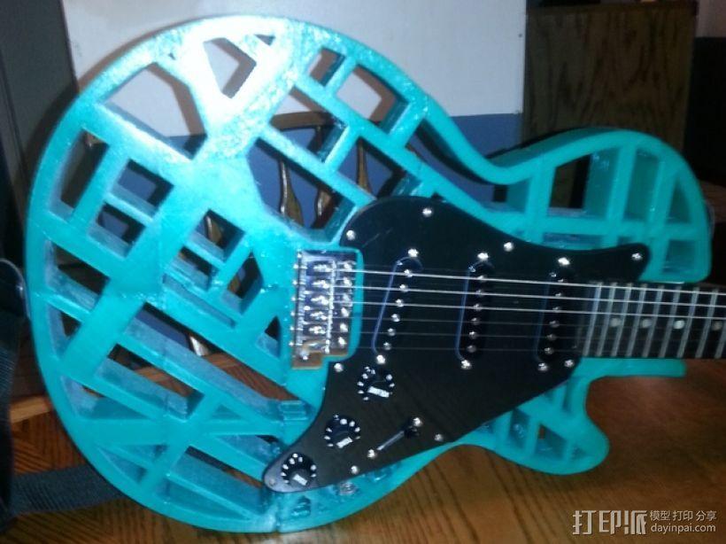 两种风格混合吉他 3D模型  图9