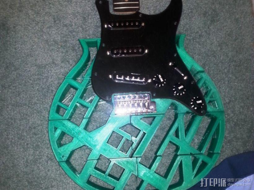 两种风格混合吉他 3D模型  图10