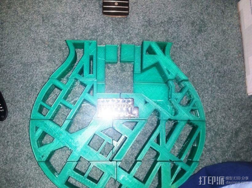 两种风格混合吉他 3D模型  图11