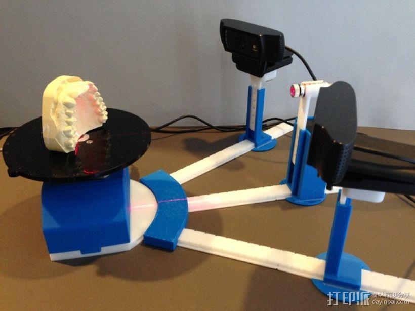 打印你自己的3D扫描仪组件 3D模型  图1