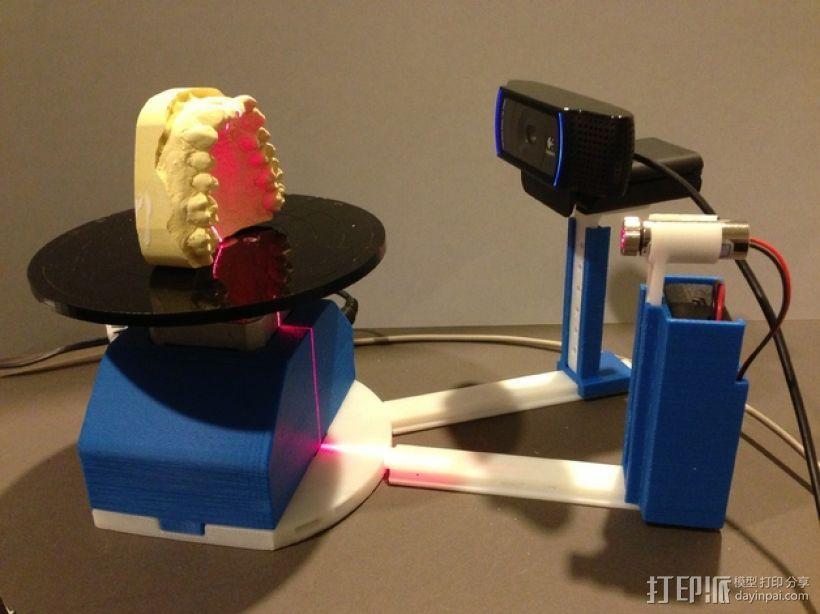 打印你自己的3D扫描仪组件 3D模型  图2