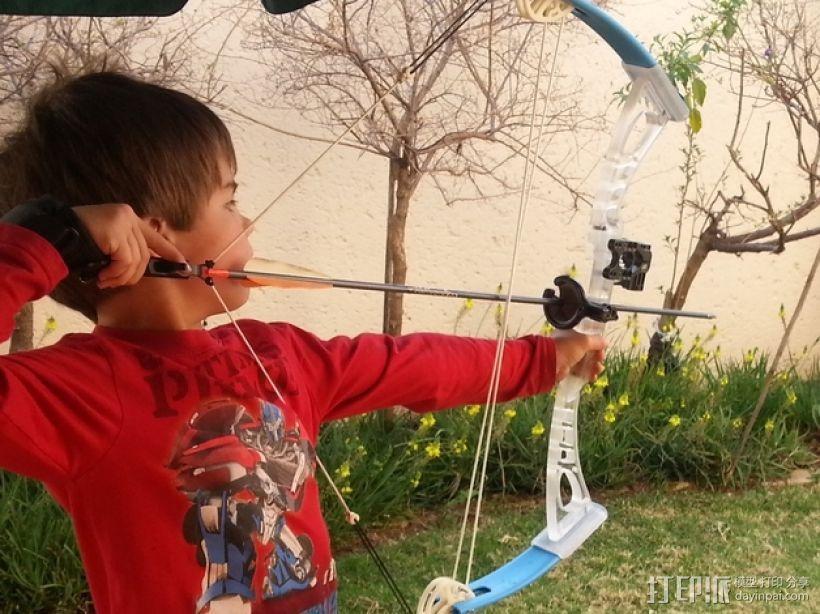少年复合弓 3D模型  图2