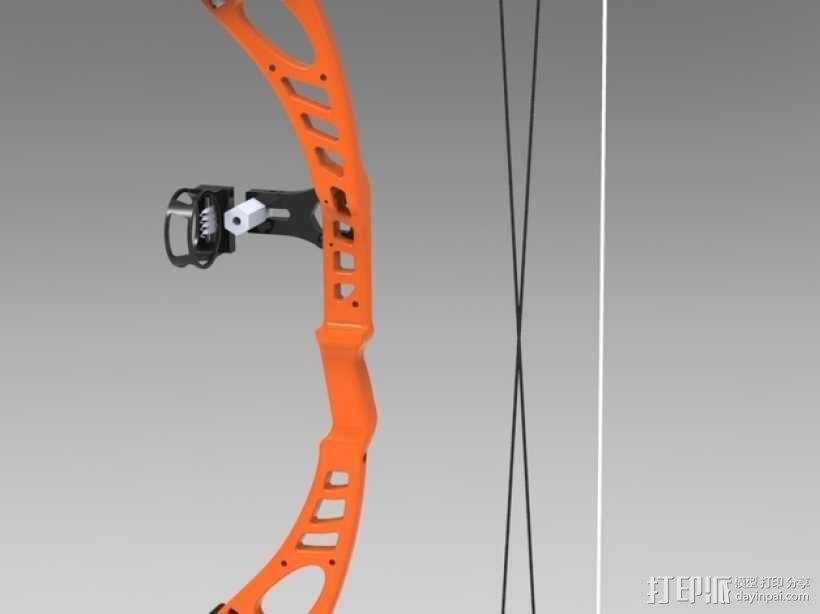 少年复合弓 3D模型  图1