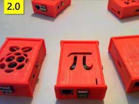 改良型定制树莓派外壳 3D模型