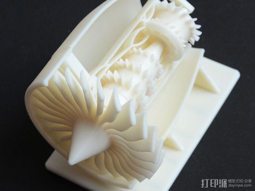 GE 喷气引擎舱 3D模型  图1