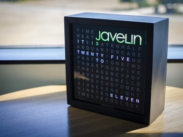Javelin字时钟隔板 3D模型  图1