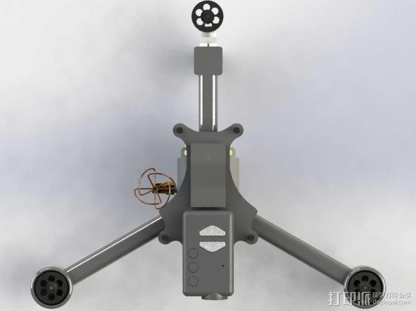 MicroTri 迷你RC 三轴飞行器RchobbysUK 3D模型  图12
