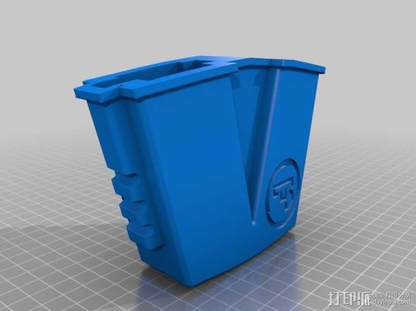 CZ双弹夹皮套 3D模型  图2
