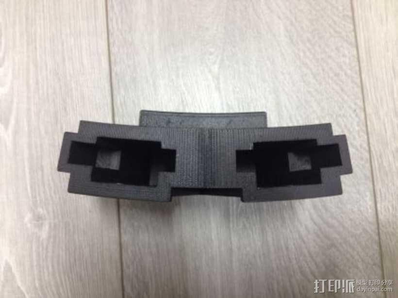 CZ双弹夹皮套 3D模型  图4