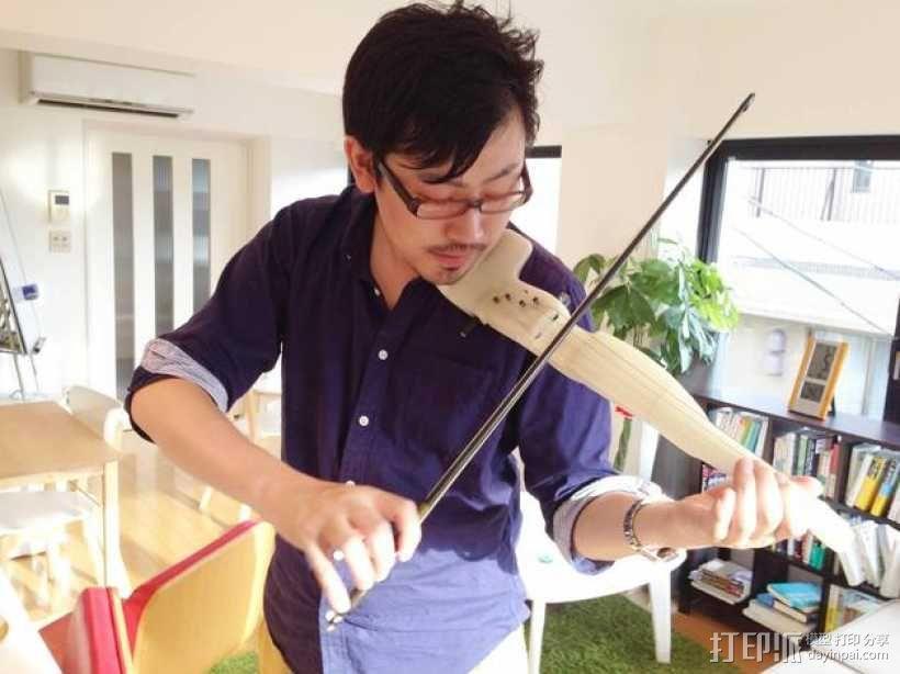迷你小提琴 3D模型  图1