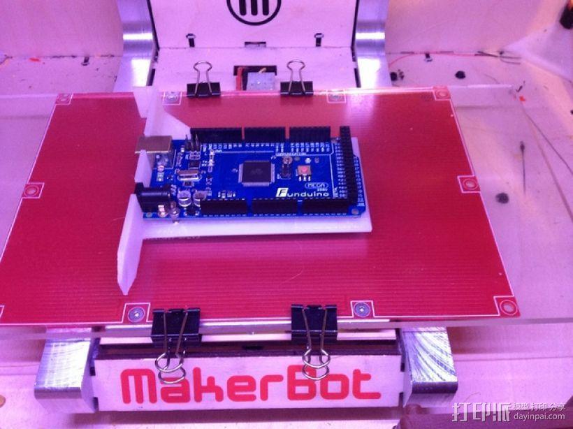 Arduino Uno/Mega的PCI焊接槽 3D模型  图1