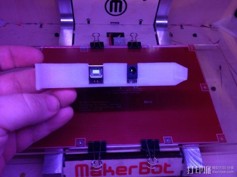 Arduino Uno/Mega的PCI焊接槽 3D模型  图3