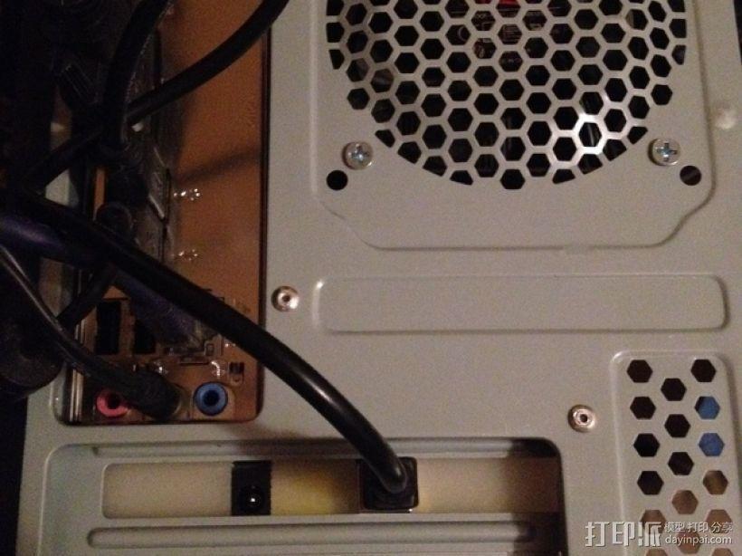 Arduino Uno/Mega的PCI焊接槽 3D模型  图6