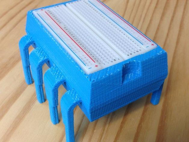 8引脚集成电路/单片机-面包板架和零件盒 3D模型  图2