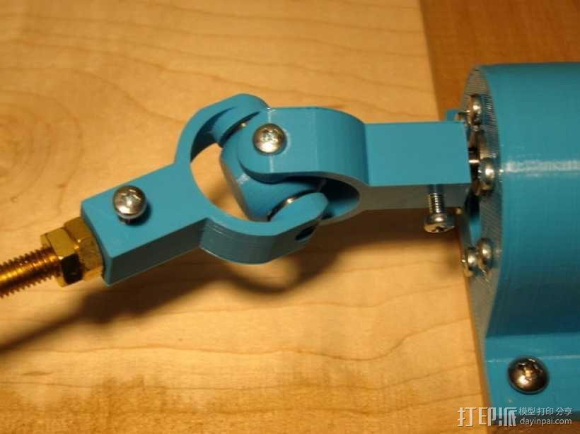 迷你枢轴的通用连接器 3D模型  图1