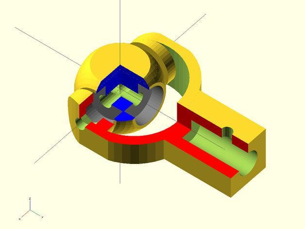 迷你枢轴的通用连接器 3D模型  图4