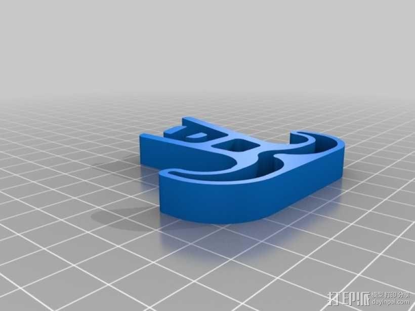 四轴飞行器的减震腿 3D模型  图2