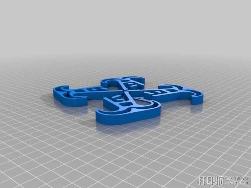四轴飞行器的减震腿 3D模型  图3