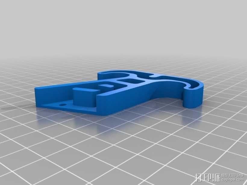 四轴飞行器的减震腿 3D模型  图4