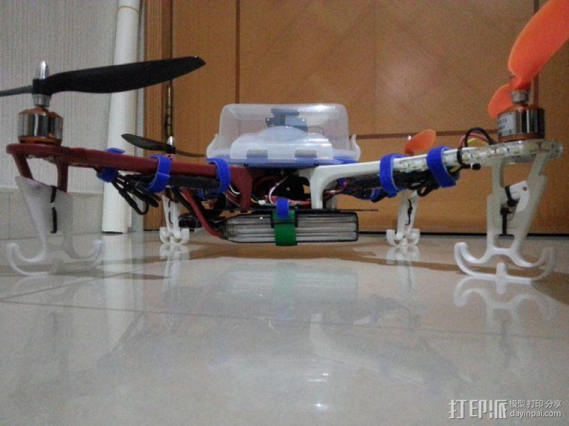 四轴飞行器的减震腿 3D模型  图6