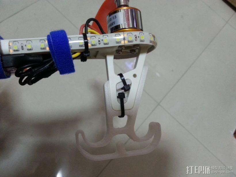 四轴飞行器的减震腿 3D模型  图5