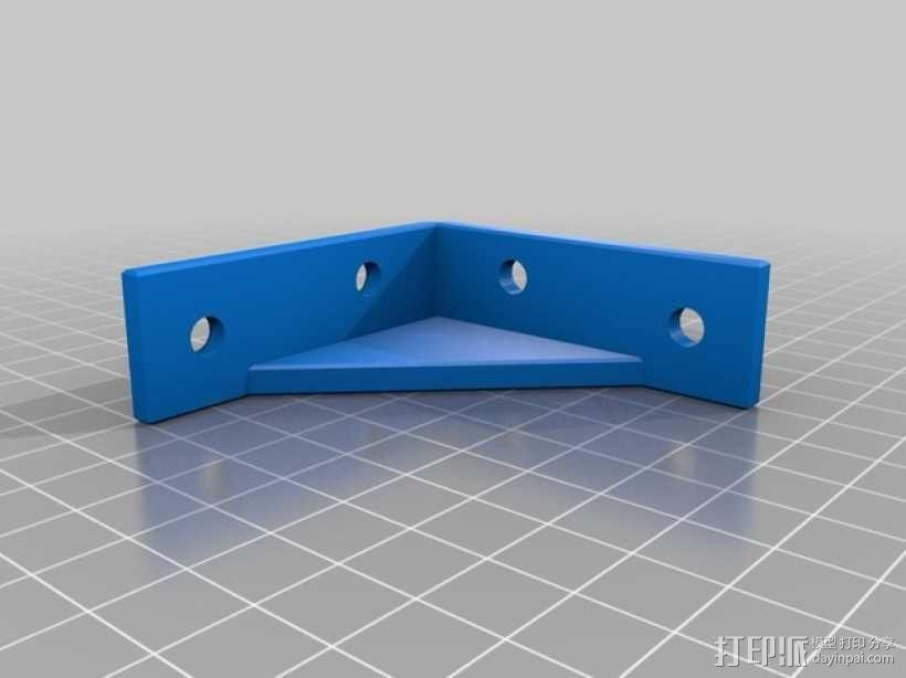 60x60 mm 家具支架 3D模型  图2