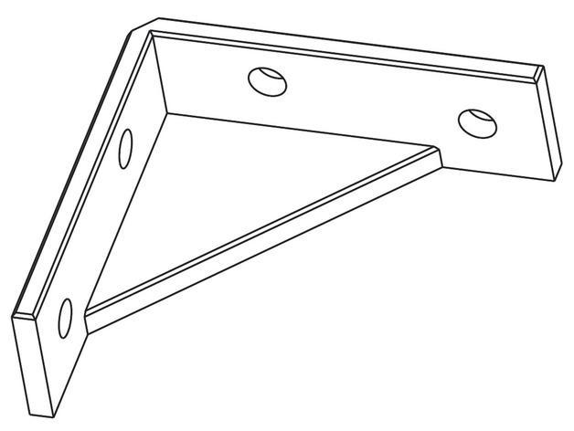 60x60 mm 家具支架 3D模型  图4