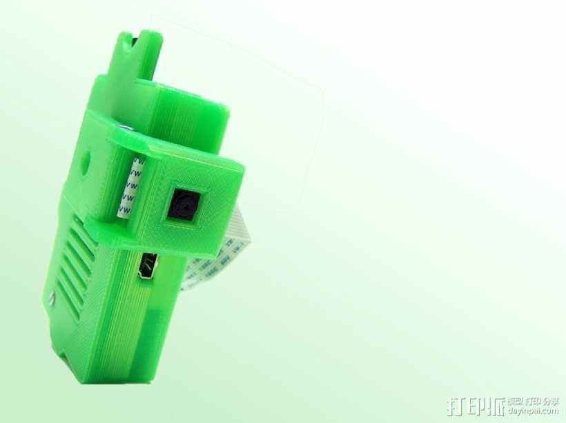 PiKase——带有旋转摄像头,通用输入输出接口帽以及更多其他功能的树莓派外壳 3D模型  图4