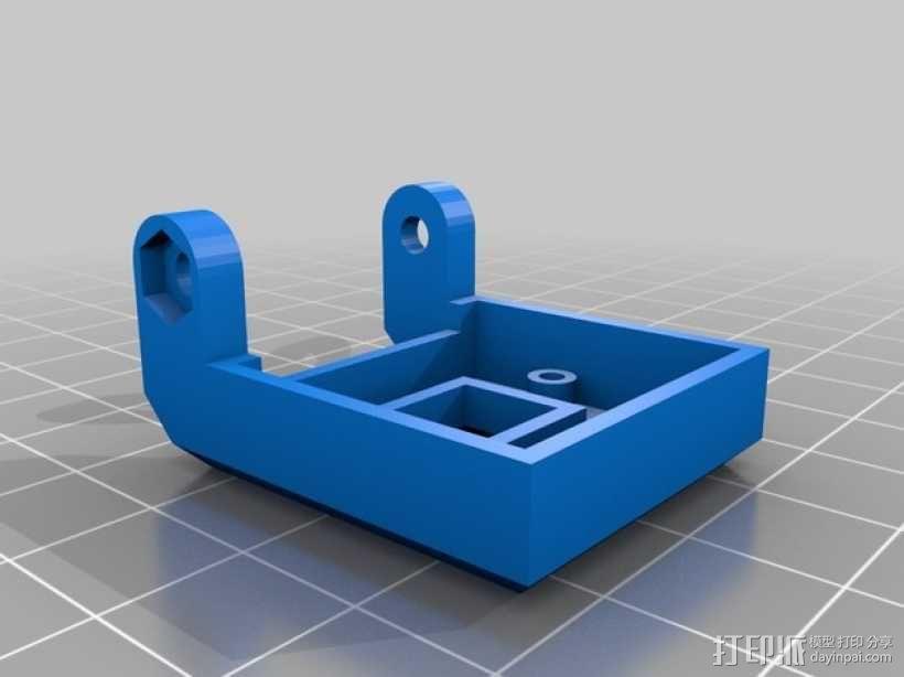 PiKase——带有旋转摄像头,通用输入输出接口帽以及更多其他功能的树莓派外壳 3D模型  图17