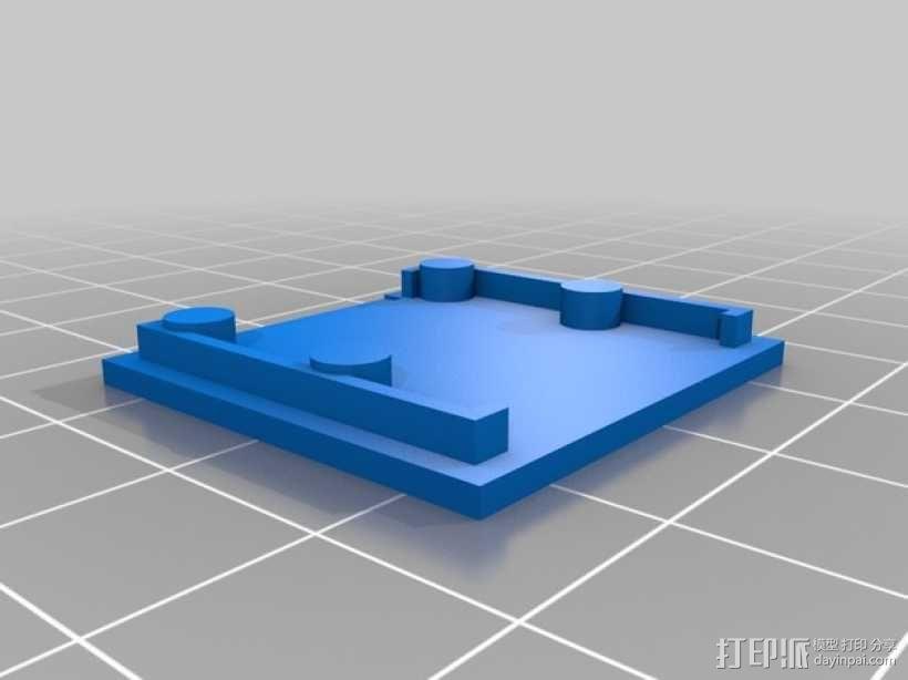 PiKase——带有旋转摄像头,通用输入输出接口帽以及更多其他功能的树莓派外壳 3D模型  图15