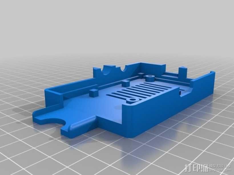 PiKase——带有旋转摄像头,通用输入输出接口帽以及更多其他功能的树莓派外壳 3D模型  图18