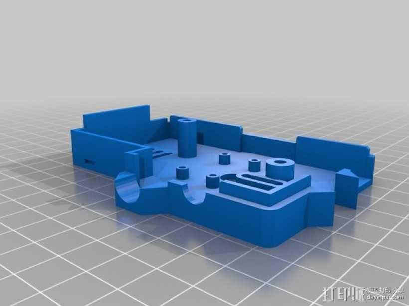 PiKase——带有旋转摄像头,通用输入输出接口帽以及更多其他功能的树莓派外壳 3D模型  图20
