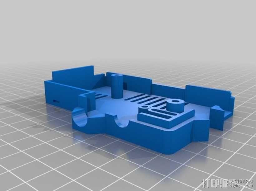 PiKase——带有旋转摄像头,通用输入输出接口帽以及更多其他功能的树莓派外壳 3D模型  图21