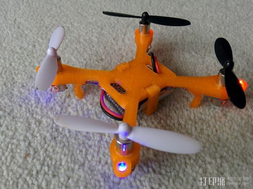 哈博森四轴飞行器机身 3D模型  图1