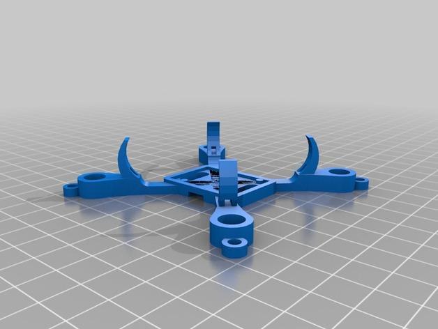 哈博森四轴飞行器机身 3D模型  图2