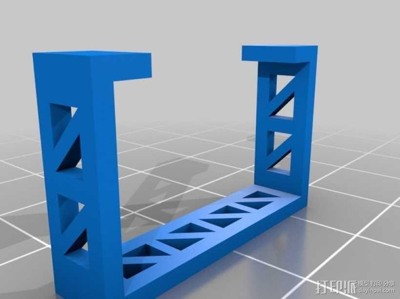 哈博森四轴飞行器机身 3D模型  图3