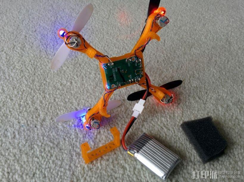 哈博森四轴飞行器机身 3D模型  图5