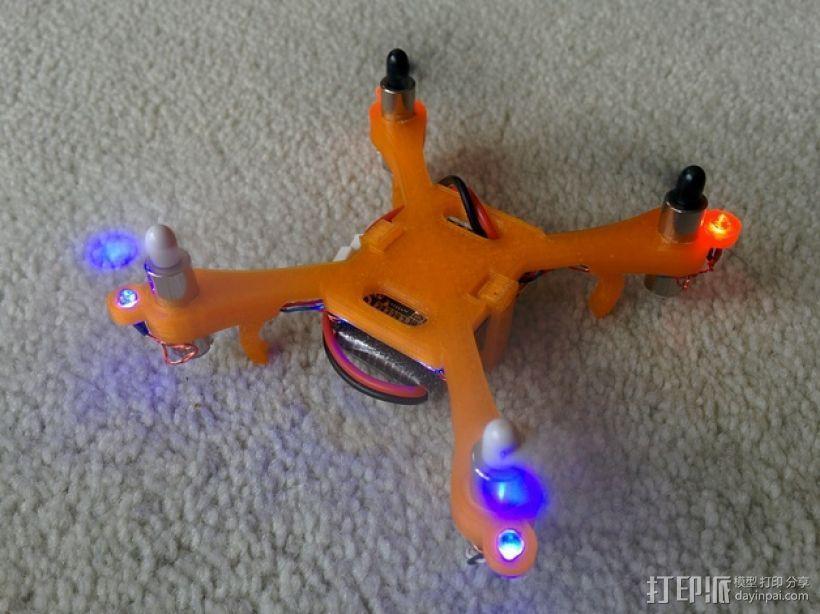 哈博森四轴飞行器机身 3D模型  图7